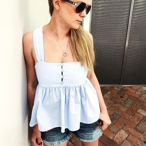 Babydoll top in baby blue
